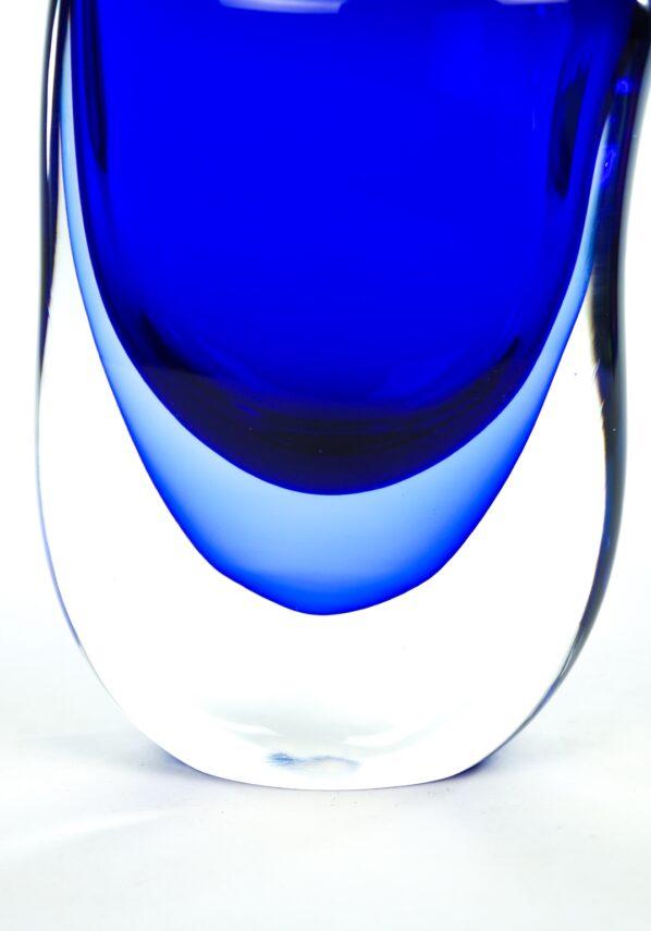 Uncin - Blue Sommerso Murano Glass Vase