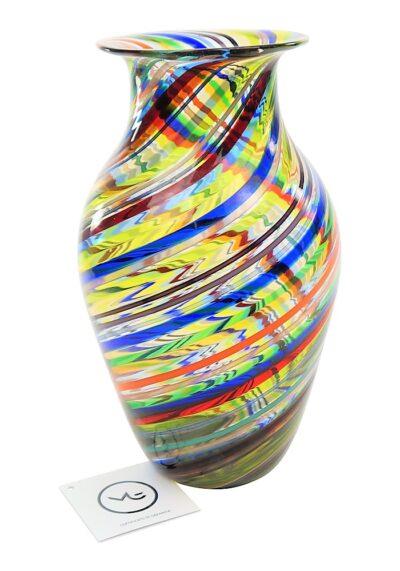 Canea – Big Murano Glass Vase Multicolour Aventurine