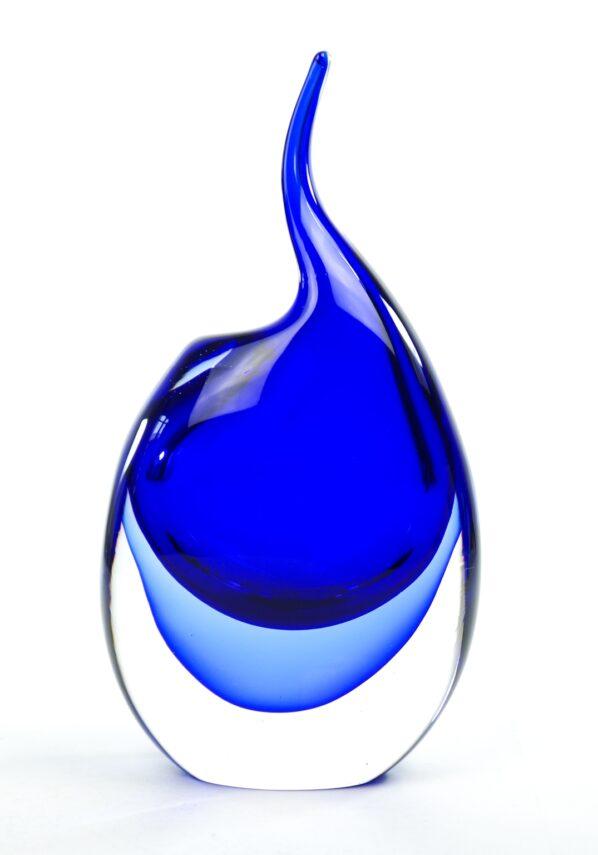Unicorn - Blue Sommerso Murano Glass Vase
