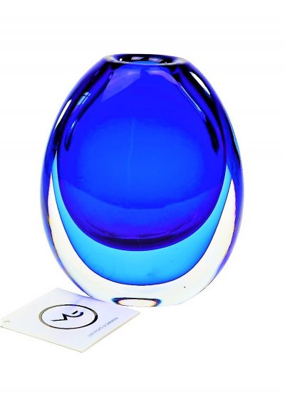 Thermal – Blue Sommerso Murano Glass Vase