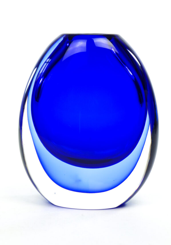 Thermal - Blue Sommerso Murano Glass Vase