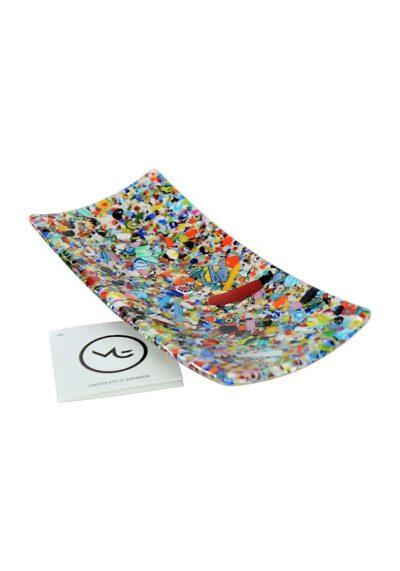 Plate Murano Glass – Multicolored Mix