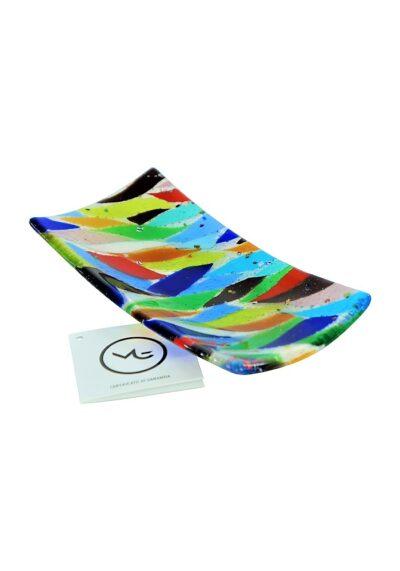 Plate Murano Glass – Multicolored Flakes