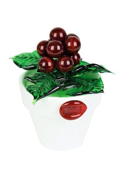 Murano Glass Vase With Berries