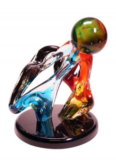 Abstract Knot – Murano Sculpture Submerged Colored