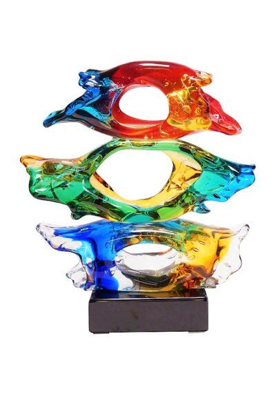 Wow – Three Eyes Murano Glass Sculpture