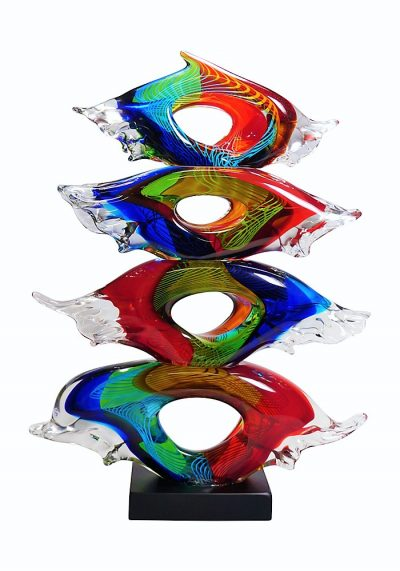 Yes – Four Eyes Murano Glass Sculpture